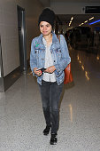 Melonie Diaz is seen at LAX on May 17 2016 in Los Angeles California