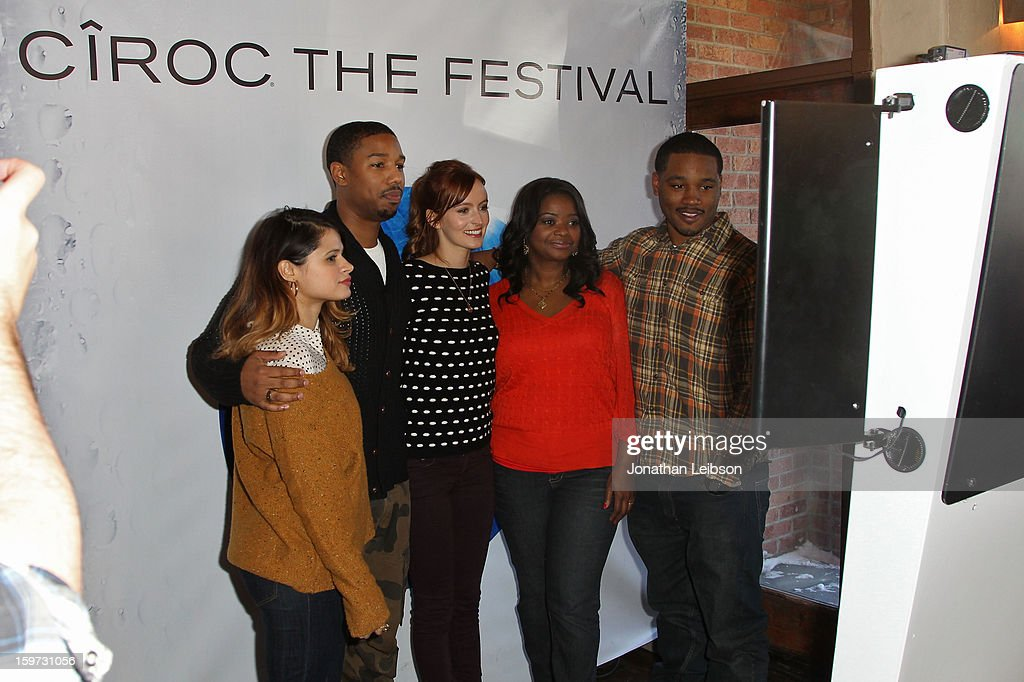 Melonie Diaz, Michael B. Jordan, Ahna O'Reilly, Octavia Spencer and Ryan Coogler attend Day 1 of the Variety Studio at 2013 Sundance Film Festival on January 19, 2013 in Park City, Utah.