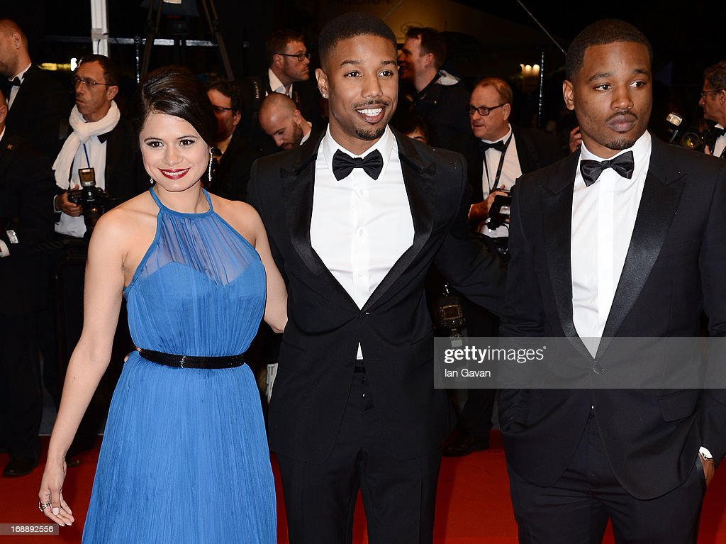 <a gi-track='captionPersonalityLinkClicked' href=/galleries/search?phrase=Melonie+Diaz&family=editorial&specificpeople=3323742 ng-click='$event.stopPropagation()'>Melonie Diaz</a>, Michael B. Jordan and <a gi-track='captionPersonalityLinkClicked' href=/galleries/search?phrase=Ryan+Coogler&family=editorial&specificpeople=7316581 ng-click='$event.stopPropagation()'>Ryan Coogler</a> attend the 'Fruitvale Station' Premiere during the 66th Annual Cannes Film Festival at the Palais des Festivals on May 16, 2013 in Cannes, France.