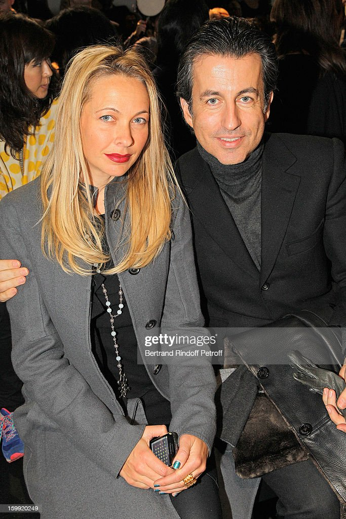 Melonie Foster Hennessy (L) and Cyril Karaoglan attend the Elie Saab Spring/Summer 2013 Haute-Couture show as part of Paris Fashion Week at Pavillon Cambon Capucines on January 23, 2013 in Paris, France.