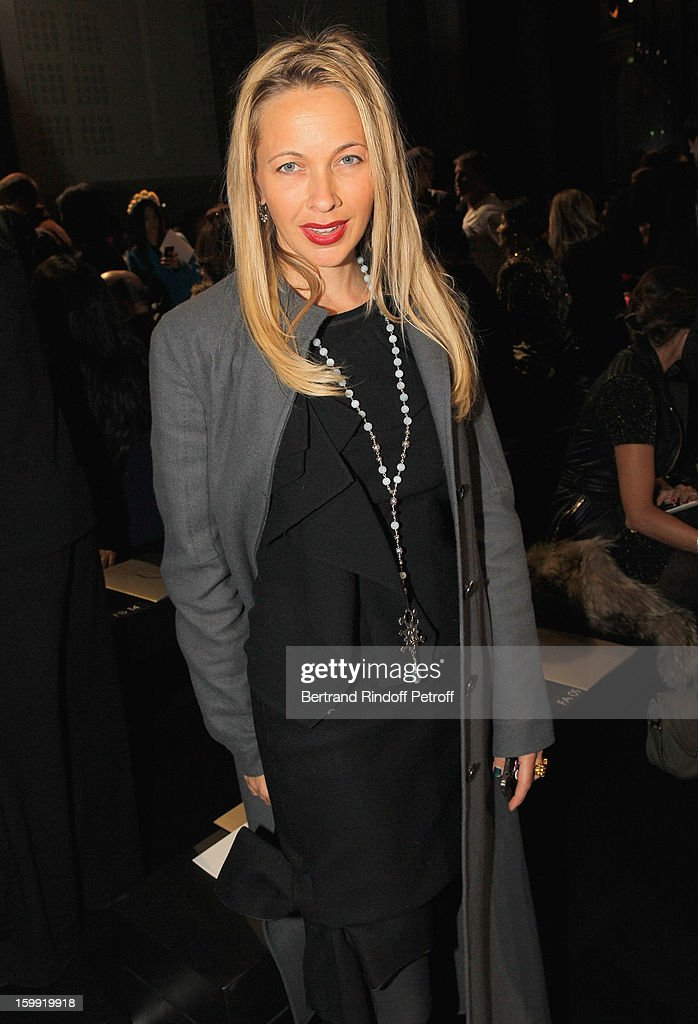 Melonie Foster Hennessy attends the Elie Saab Spring/Summer 2013 Haute-Couture show as part of Paris Fashion Week at Pavillon Cambon Capucines on January 23, 2013 in Paris, France.