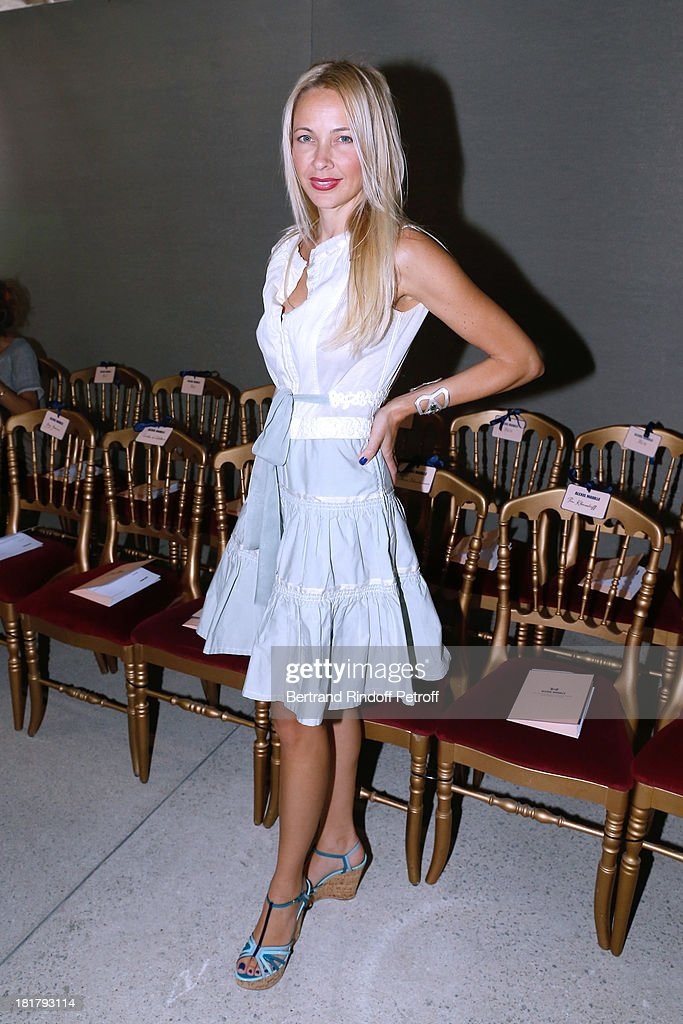 Melonie Hennessy attends Alexis Mabille show as part of the Paris Fashion Week Womenswear Spring/Summer 2014 at Docks en Seine on September 25, 2013 in Paris, France.