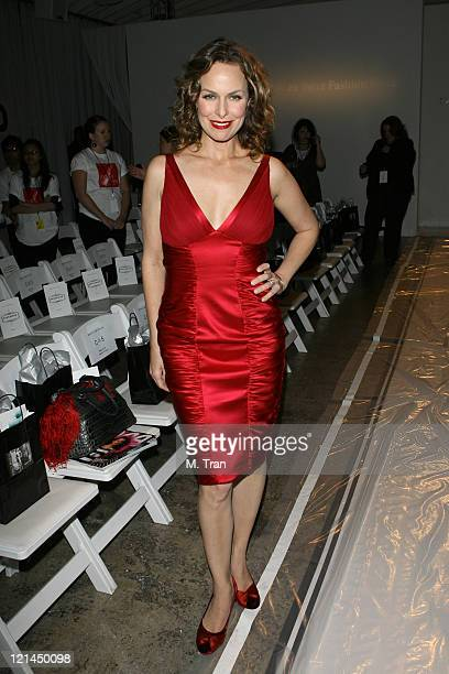 Melora Hardin front row at Dina BarEl Fall 2007 during MercedesBenz Fall 2007 LA Fashion Week at Smashbox Studios Dina BarEl Backstage and Front Row...