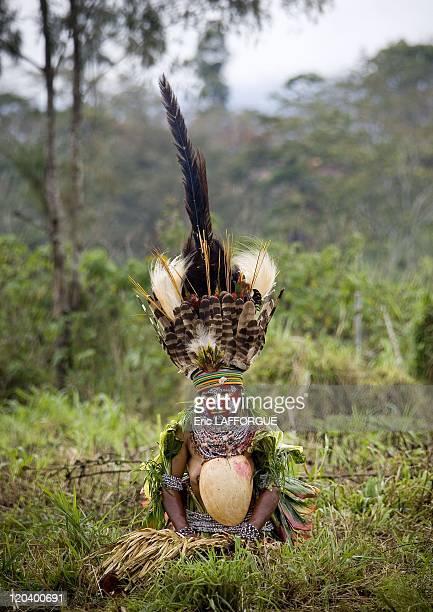 Melpa woman inMount Hagen Papua New Guinea