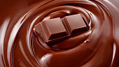 Melted chocolate background / melting chocolate/ chocolate background / chocolate bar