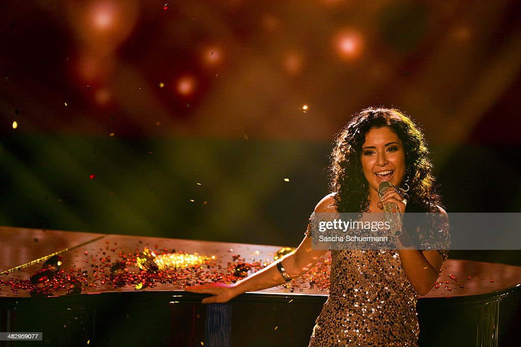 Meltem Acikgoez performs at the rehearsal for the 2nd 'Deutschland sucht den Superstar' (DSDS) show at Coloneum on April 5, 2014 in Cologne, Germany.