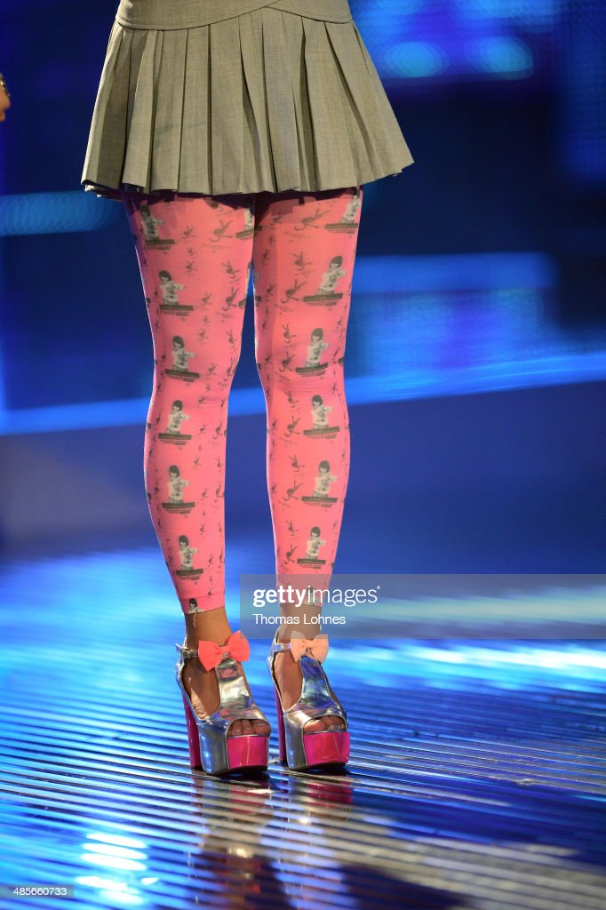 Meltem Acikgoez performs at the rehearsal for the 4th 'Deutschland sucht den Superstar' show at Coloneum on April 19 2014 in Cologne Germany