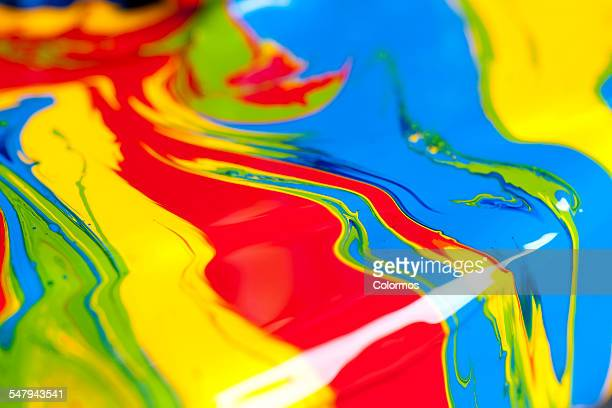 Melting colored paint
