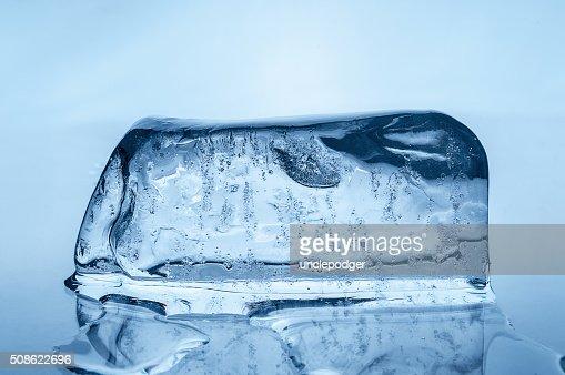 Melting ice block : Stock Photo