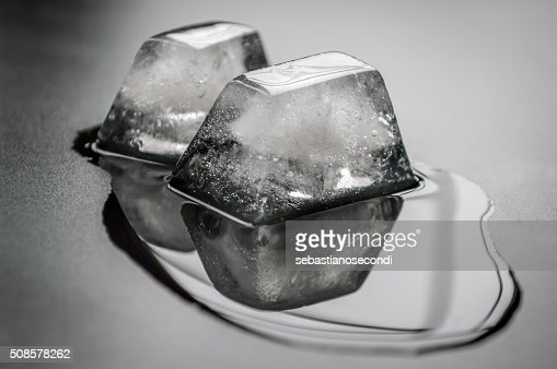 melting ice cubes : Stock Photo