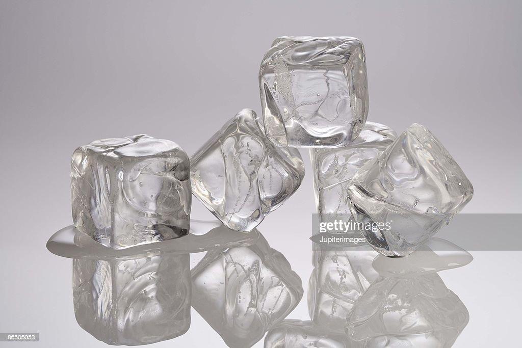 Melting ice cubes : Stock Photo