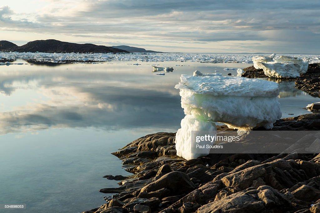 Melting Icebergs at Sunset, Repulse Bay, Canada