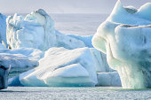 Icebergs melting due to global warming.