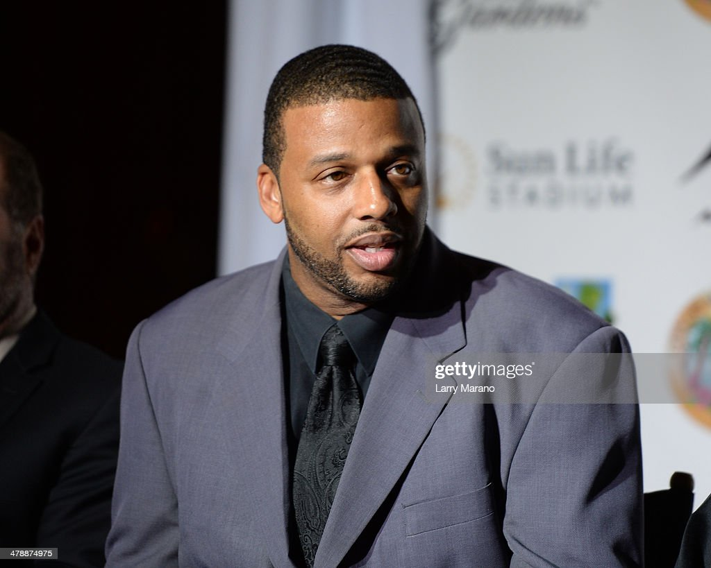 Melton Mustafa Jr. attends Jazz In The Gardens press conference on March 14, 2014 in Hollywood, Florida.