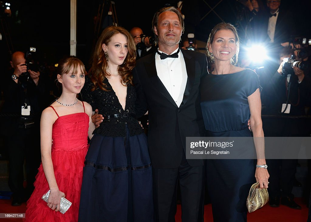 Melusine Mayance, Roxane Duran, <a gi-track='captionPersonalityLinkClicked' href=/galleries/search?phrase=Mads+Mikkelsen&family=editorial&specificpeople=3003791 ng-click='$event.stopPropagation()'>Mads Mikkelsen</a> and Hanne Jacobsen attend the 'Michael Kohlhaas' premiere during The 66th Annual Cannes Film Festival at the Palais des Festival on May 24, 2013 in Cannes, France.