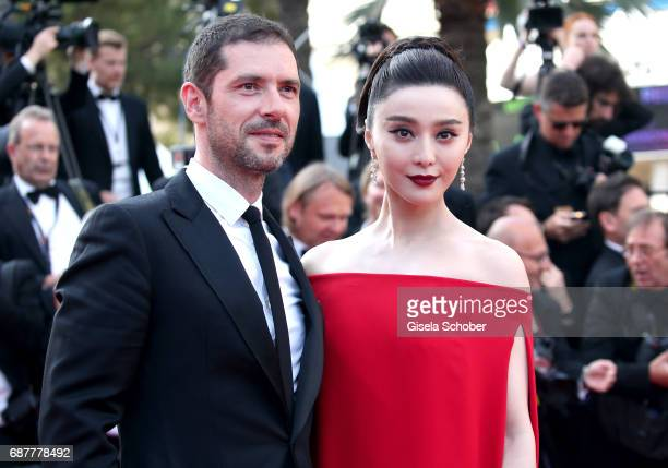Melvil Poupaud and Fan Bingbing attend the 'The Beguiled' screening during the 70th annual Cannes Film Festival at Palais des Festivals on May 24...