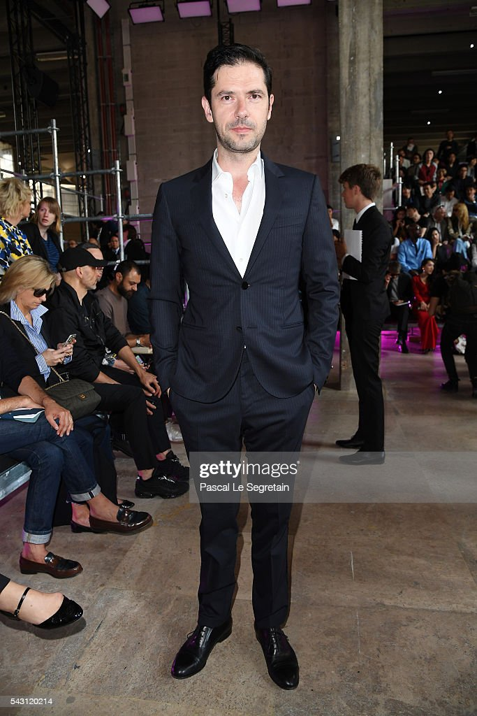 <a gi-track='captionPersonalityLinkClicked' href=/galleries/search?phrase=Melvil+Poupaud&family=editorial&specificpeople=624743 ng-click='$event.stopPropagation()'>Melvil Poupaud</a> attends the Lanvin Menswear Spring/Summer 2017 show as part of Paris Fashion Week on June 26, 2016 in Paris, France.