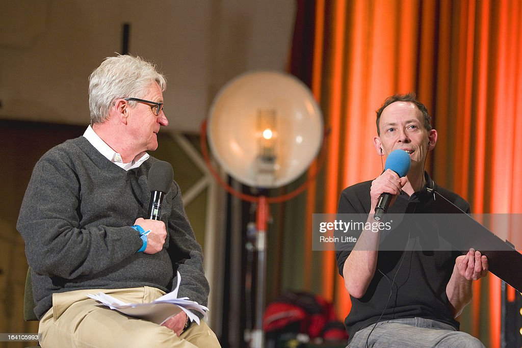 Melvin Benn and Steve Lamacq present the press launch for Latitude Festival 2013 at BBC Maida Vale Studios on March 19, 2013 in London, England.