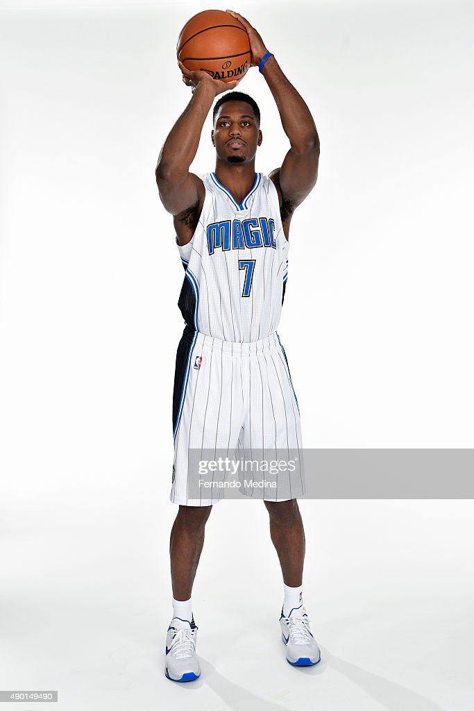 <a gi-track='captionPersonalityLinkClicked' href=/galleries/search?phrase=Melvin+Ejim&family=editorial&specificpeople=7493276 ng-click='$event.stopPropagation()'>Melvin Ejim</a> #7 of the Orlando Magic poses for a portrait during NBA Media Day on September 25, 2015 at Amway Center in Orlando, Florida.