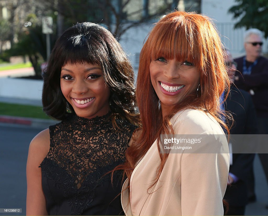 Melvin Franklin widow Kim English (R) and daughter attend The Recording Academy Special Merit Awards Ceremony at the Wilshire Ebell Theatre on February 9, 2013 in Los Angeles, California.