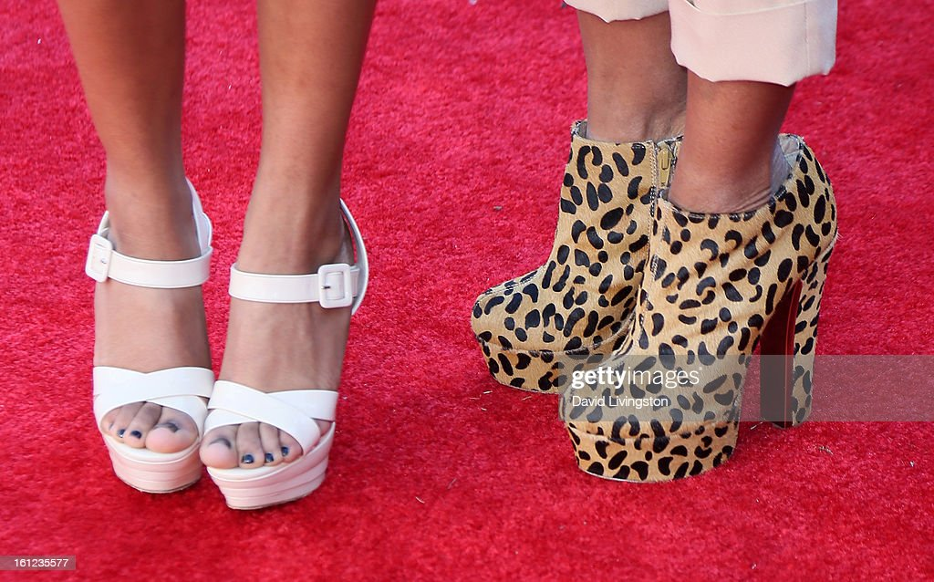 Melvin Franklin widow Kim English (R) and daughter (shoe detail) attend The Recording Academy Special Merit Awards Ceremony at the Wilshire Ebell Theatre on February 9, 2013 in Los Angeles, California.