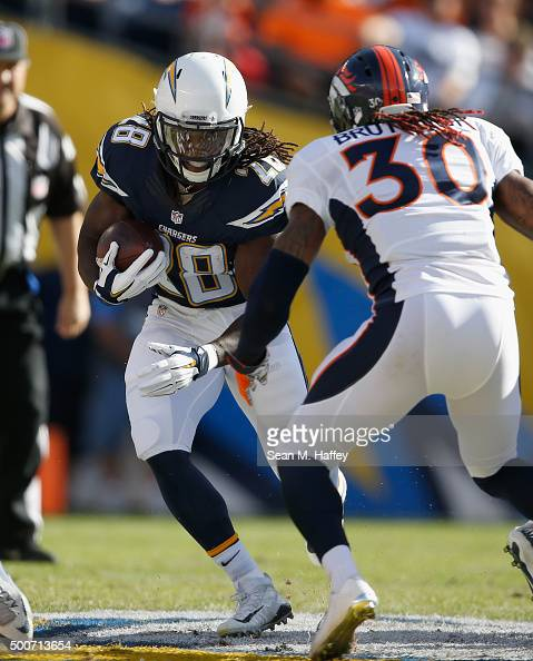 San Diego Chargers Denver Broncos: David Bruton Stock Photos And Pictures