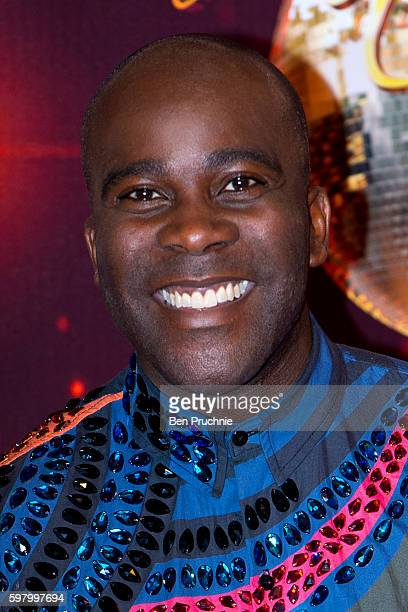 Melvin Odoom arrives for the launch of 'Strictly Come Dancing 2016' at Elstree Studios on August 30 2016 in Borehamwood England