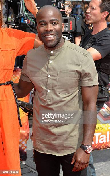 Melvin Odoom attends the London auditions of The X Factor at SSE Arena on July 16 2015 in London England