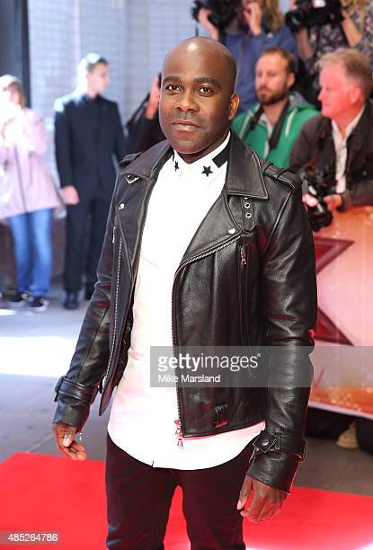 Melvin Odoom attends the press launch of 'The X Factor' on August 26 2015 in London England
