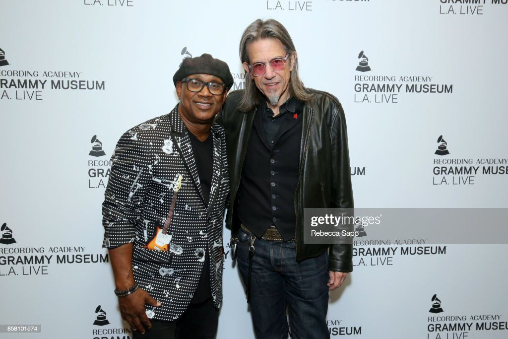Melvin Williams and GRAMMY Museum Executive Director Scott Goldman attend An Evening With Melvin Williams at The GRAMMY Museum on October 5, 2017 in Los Angeles, California.