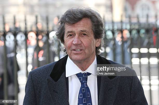 Melvyn Bragg attends a memorial service for Sir David Frost at Westminster Abbey on March 13 2014 in London England