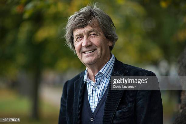 Melvyn Bragg broadcaster and author at the Cheltenham Literature Festival on October 10 2015 in Cheltenham England