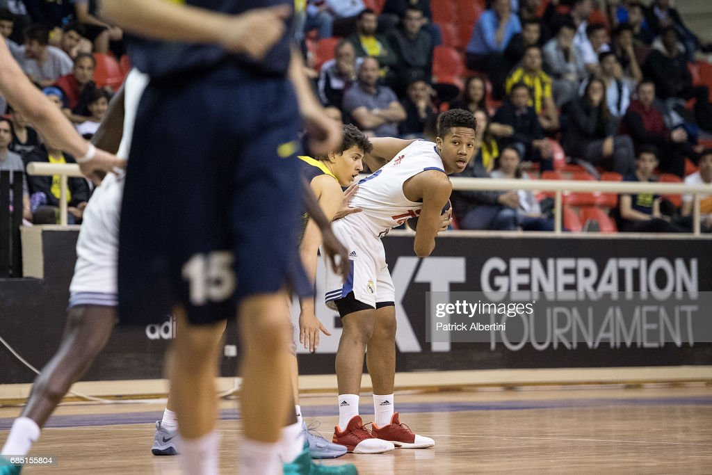 Melwin Pantzarin, #19 of U18 Real Madrid action during the Euroleague Basketball Adidas Next Generation Tournament game between U18 Real Madrid v U18 Fenerbahce Istanbul at Ahmet Comert on May 19, 2017 in Istanbul, Turkey.