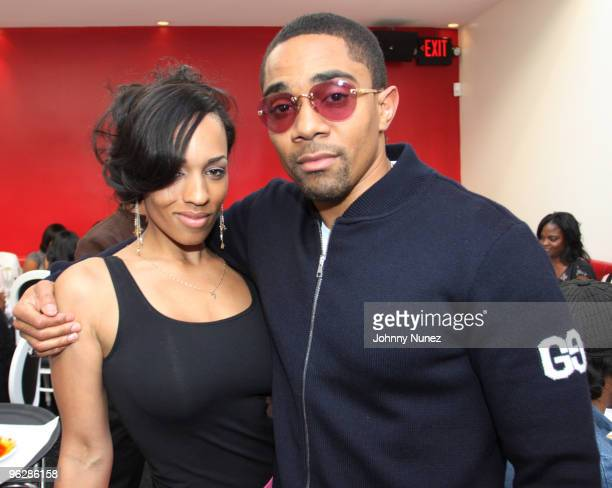 Melyssa Ford and Ishmael FordBey celebrate Estelle's upcoming album at Philippe Chow's on January 30 2010 in Los Angeles California