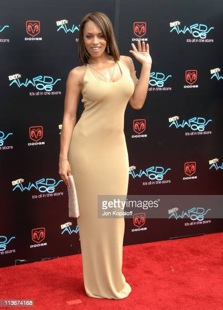 Melyssa Ford during 2006 BET Awards Arrivals at The Shrine in Los Angeles California United States