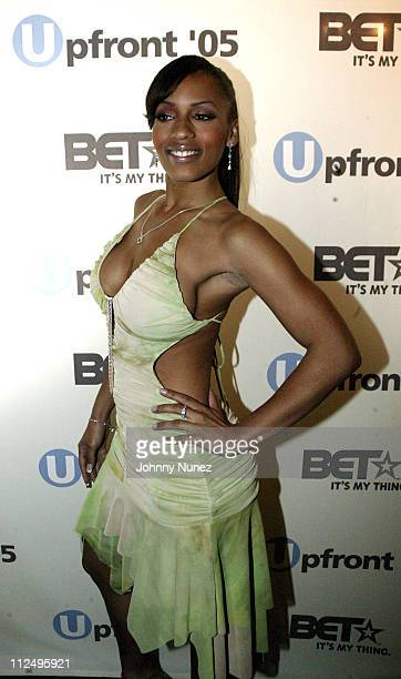 Melyssa Ford during BET UpFront '05 Green Room at Manhattan Center in New York City New York United States