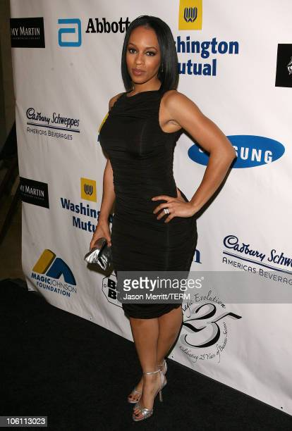 Melyssa Ford during 'Magic' Evolution An Evening Honoring Earvin 'Magic' Johnson Arrivals at Beverly Hilton in Beverly Hills California United States