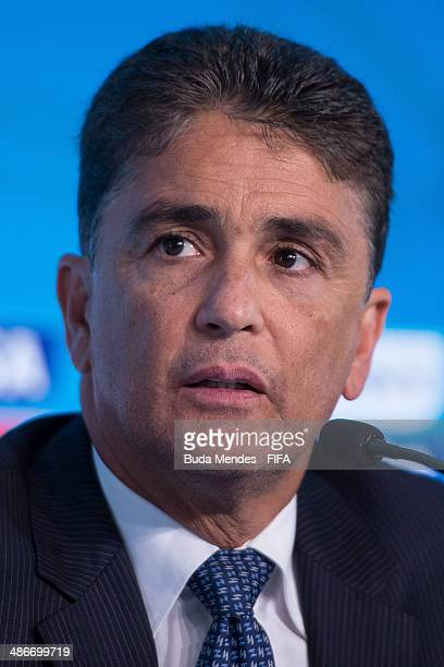 Member Bebeto attends a press conference during the 2014 FIFA World Cup Host City Tour on April 25 2014 in Rio de Janeiro Brazil