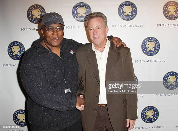 SAG member De Wayne Williams and actor John Heard arrive at the Screen Actors Guild SAGIndie Breakthrough Filmmakers Party during AFI FEST 2010...