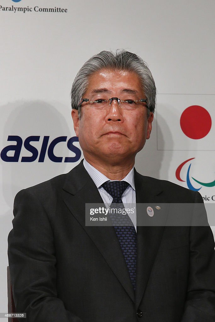 Member, IOC Marketing Commission Chairman, President, Japanese Olympic Committee <a gi-track='captionPersonalityLinkClicked' href=/galleries/search?phrase=Tsunekazu+Takeda&family=editorial&specificpeople=2574573 ng-click='$event.stopPropagation()'>Tsunekazu Takeda</a> attends during the press conference on April 6, 2015 in Tokyo, Japan. ASICS became the gold partner, the highest of three ranks of sponsorship for Tokyo 2020 Summer Olympics.