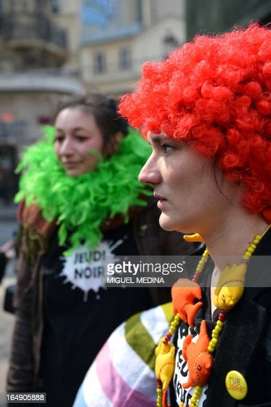 A member of activist group jeudi noir black thursday - Chambre des huissiers de justice de paris ...