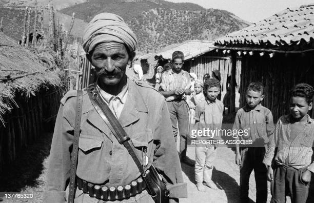 A member of ALN National Liberation Army in a village on September 13 1962 in Algeria