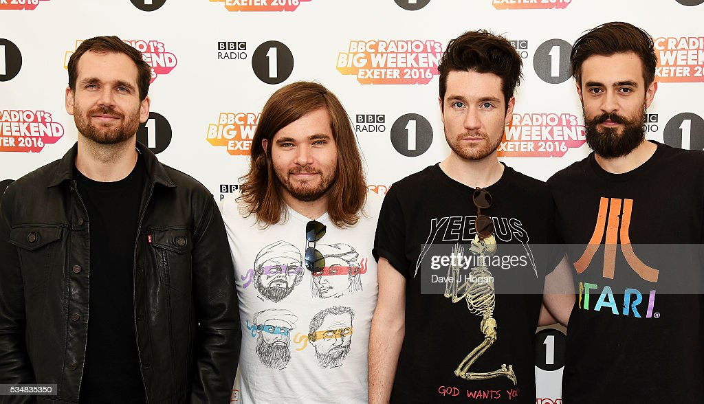 Member of Bastille pose for a photo during day 1 of BBC Radio 1's Big Weekend at Powderham Castle on May 28, 2016 in Exeter, England.