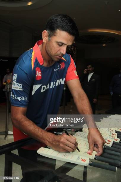 Member of Delhi Daredevils team Rahul Dravid at a party hosted by Daikin to celebrate the three years of togetherness with Delhi Daredevils team at...