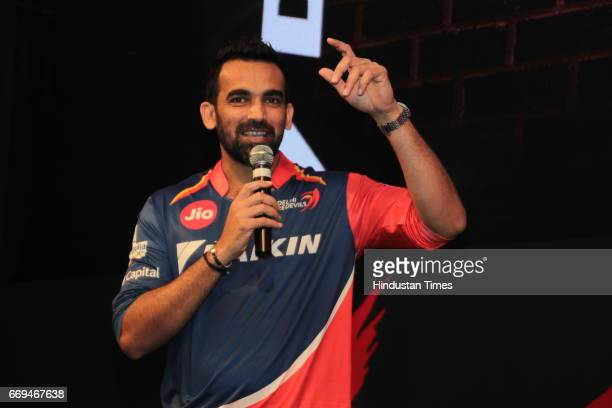 Member of Delhi Daredevils team Zaheer Khan at a party hosted by Daikin to celebrate the three years of togetherness with Delhi Daredevils team at...