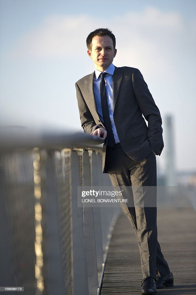 FRENCH - Member of France's right-wing party UMP and Paris' city councillor Pierre-Yves Bournazel poses on the Pont Alexandre III in Paris on January 14, 2013. Bournazel officially announced on January 17, 2013 he is running for mayor in Paris in next year's municipal elections.