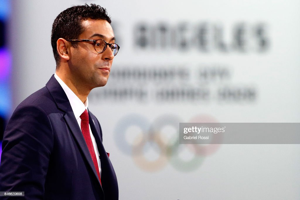 Member of Generation Committe Youssef Halaoua speaks during the Paris 2024 Presentation during the 131th IOC Session - 2024 & 2028 Olympics Hosts Announcement at Lima Convention Centre on September 13, 2017 in Lima, Peru.