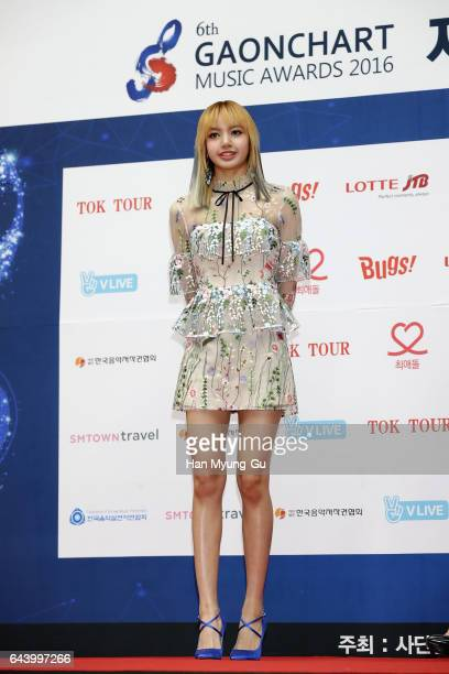 A member of girl group BLACKPINK attends the 6th Gaon Chart KPop Awards on February 22 2017 in Seoul South Korea