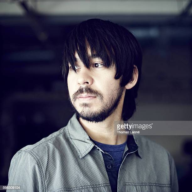 Member of music band Linkin Park is photographed for Self Assignment on July 20 2010 in Paris France