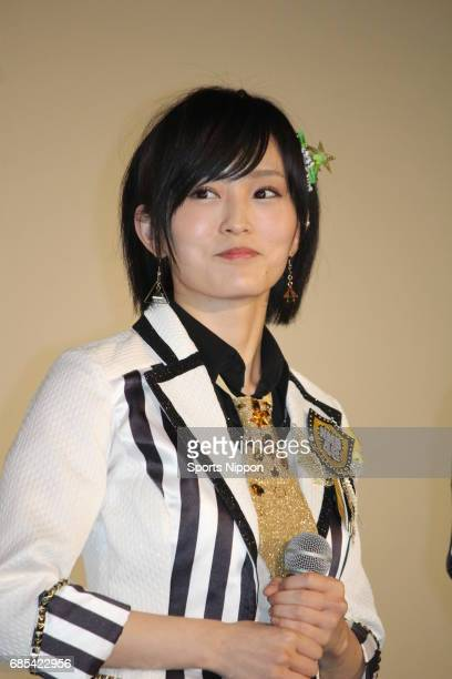 Member of NMB48 Sayaka Yamamoto attends preview screening of 'Raise Your Arms and Twist Documentary of NMB48' on January 15 2016 in Tokyo Japan
